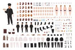 Free Chef, Cook, Culinary Worker, Kitchen Staff DIY Set Or Creation Kit. Collection Of Body Parts, Gestures, Postures Royalty Free Stock Image - 144922476