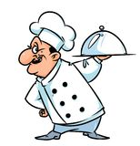 Chef cook demonstration culinary dish cartoon illustration Royalty Free Stock Photography