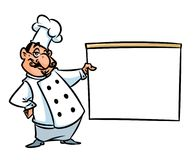 Chef cook demonstration culinary menu cartoon illustration Royalty Free Stock Photo