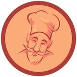 Chef cook. In frame - illustration Stock Image