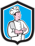 Chef Cook Holding Knife Arms Crossed Cartoon Stock Photography