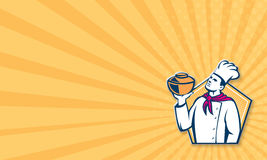 Chef Cook Holding Pot Retro Royalty Free Stock Image