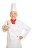 Chef cook holding thumbs up Royalty Free Stock Photography