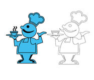 Chef cook. Illustration with a chef cook on white background Stock Photography