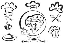 Chef , cook , logotype stock images