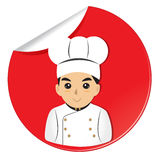 Chef cook  red background Royalty Free Stock Photo