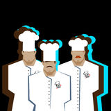 Chef Cook Serving Food Realistic Cartoon Character Design. Chef Cook Serving Food Realistic Cartoon Character Royalty Free Stock Photos