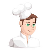 Chef Cook Serving Food Realistic Cartoon Character Design Isolated Vector Illustrator Web site page and mobile app design.  Royalty Free Stock Image