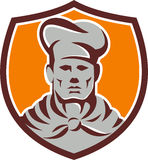 Chef Cook Shield Retro Royalty Free Stock Image