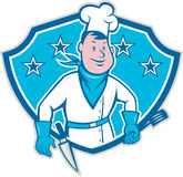Chef Cook Star Shield Stock Photography