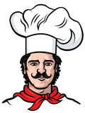Chef cook vector. Chef cook man vector illustration Royalty Free Stock Images
