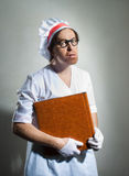 Chef with the cookbook Royalty Free Stock Images