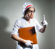 Chef with the cookbook Stock Image