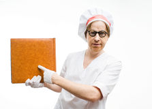Chef with the cookbook Stock Photography