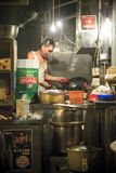 The Chef of Cooked-food stall in Central, Hong Kong Royalty Free Stock Images