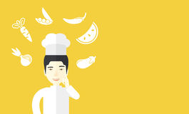Chef-cooker Stock Image
