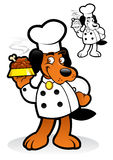 Chef / Cooker Dog Character Stock Image