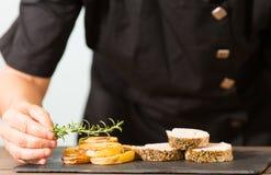 Chef Cooking Photos libres de droits