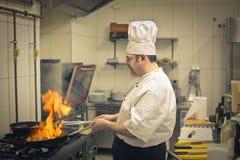 Chef Cooking stockbilder