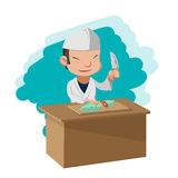 Chef Cooking Cartoon Character Japan Royalty Free Stock Photos