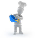 Chef cooking. 3D render of a Chef cooking Royalty Free Stock Photos