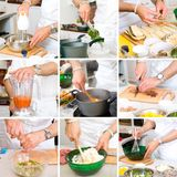 Chef cooking food Royalty Free Stock Images
