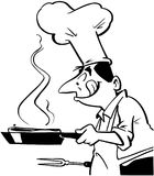 Chef cooking food Cartoon Vector Clipart Royalty Free Stock Image