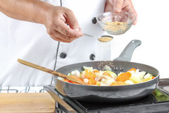 Chef cooking Stock Images