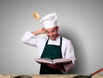 Chef is cooking Royalty Free Stock Images