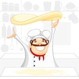 Chef cooking in Kitchen Royalty Free Stock Image