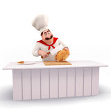 Chef cooking meat Royalty Free Stock Photos