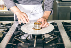 Chef cooking Royalty Free Stock Photography
