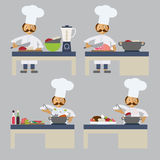 A chef cooking Stock Image