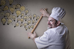 Chef cooking some ideas Royalty Free Stock Photography