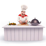 Chef cooking vegetables Royalty Free Stock Photos