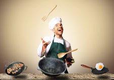 Chef cooking Royalty Free Stock Photo