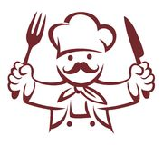 CHEF COOL DESIGN Royalty Free Stock Photos