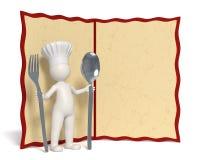 chef copyspace menu 免版税库存照片