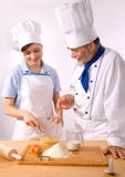 Chef couple. A male and female chef Stock Photography