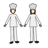 Chef couple Stock Photography