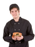 Chef with a crab Royalty Free Stock Photography