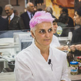 Chef Crisitna Bowerman at Tuttofood 2015 in Milan, Italy Stock Photos