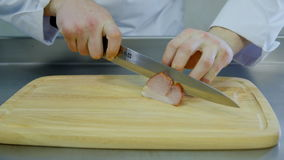 The chef cut bacon stock video footage