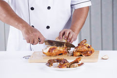Chef cut Grilled turkey Stock Image