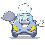 Chef cute car character cartoon Stock Images
