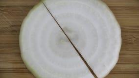 Chef cuts the onion stock video