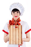 Chef with a cutting board Stock Photos