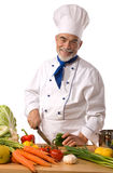 Chef cutting vegetables Stock Photos