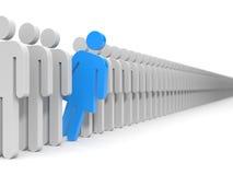 Chef d'équipe Hommes et femme Photo stock