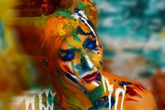 Chef d'oeuvre de peinture de femme Images libres de droits